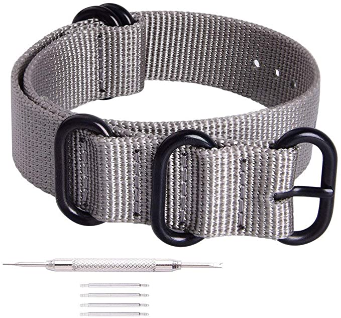 Ritche NATO Strap with Black Heavy Buckle Watch Band