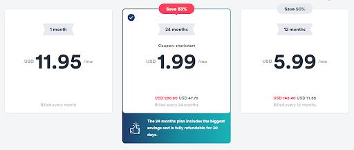 SurfsharkVPN-price