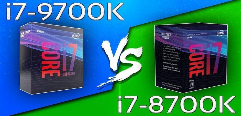i7-9700K vs Intel Core i7-8700K
