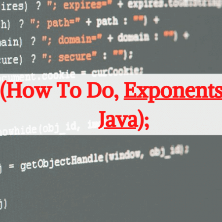 How To Do Exponents In Java