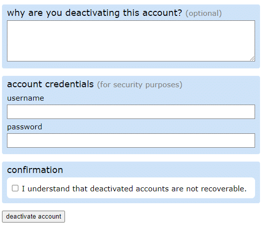 Deleting A Reddit Account On A Browser