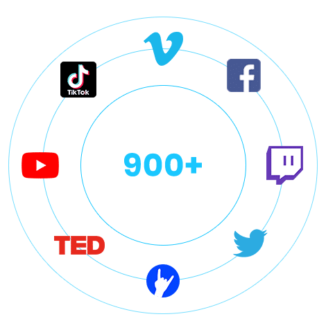 Download Videos From Tiktok, YouTube, Facebook and more