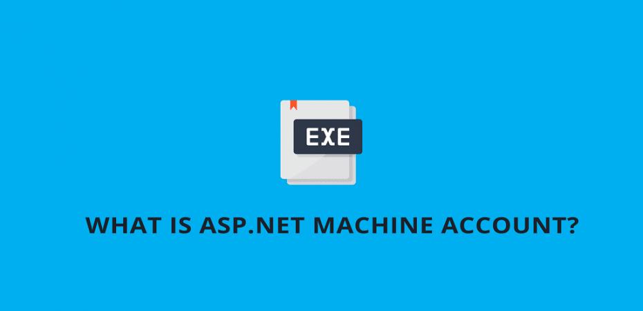 asp.net machine account