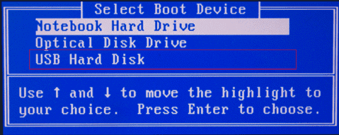 The incorrect hard drive is selected in the BIOS
