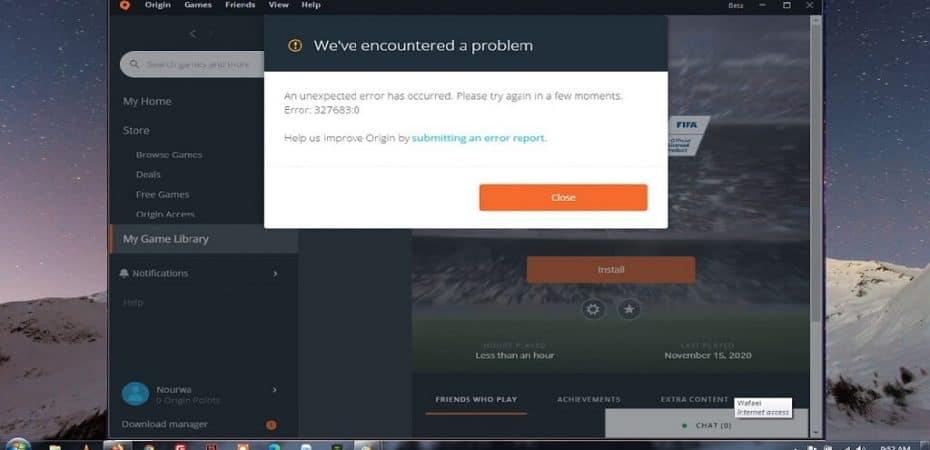 How to Fix Origin Error 3276830