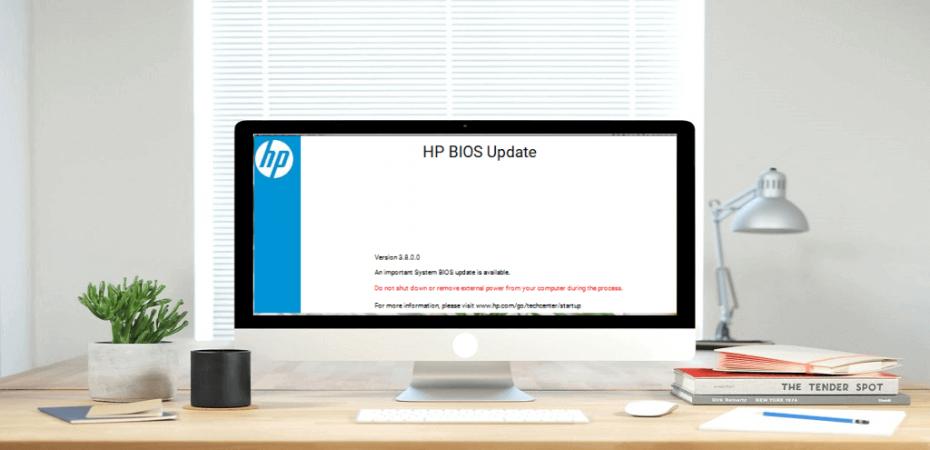 Update BIOS on an HP