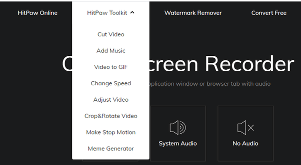 HitPaw Online Screen Recorder