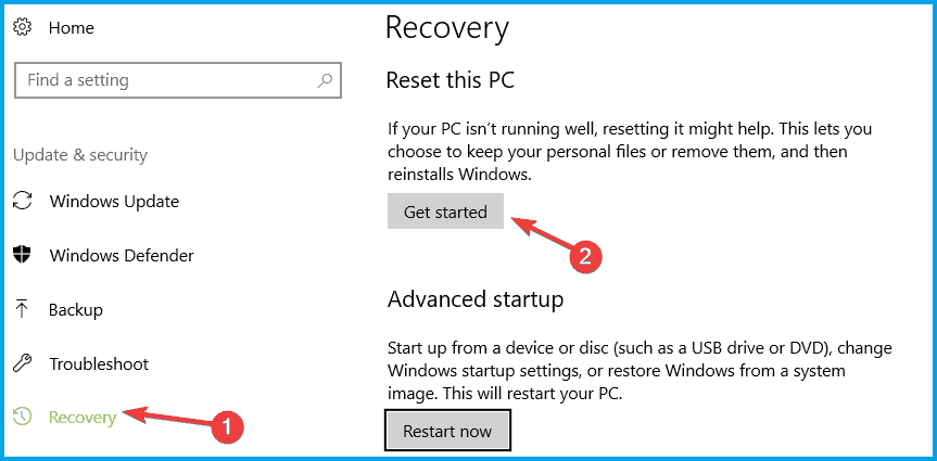Try Resetting Windows 10