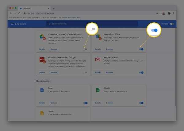 DISABLE BROWSER EXTENSIONS (ADDONS)