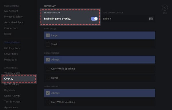 Ensure That The Overlay Feature Is Enabled Is Discord