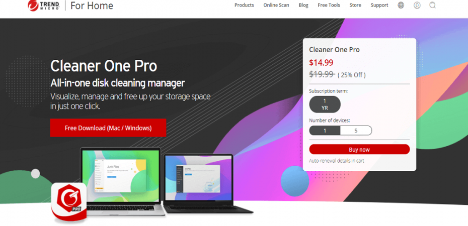 Trend Micro's Cleaner One