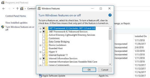 Turn off unnecessary Windows components