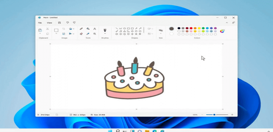 MS Paint Turn White Background Transparent