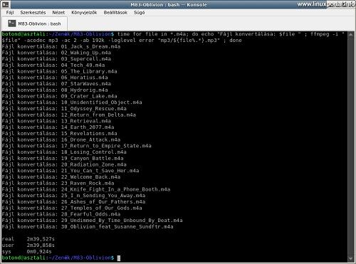 Convert M4A to MP3 via Command line & FFmpeg
